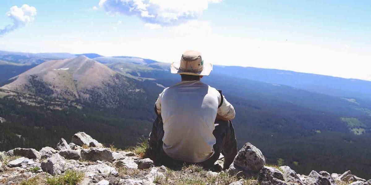 Aussicht beim Wandern querfeldein