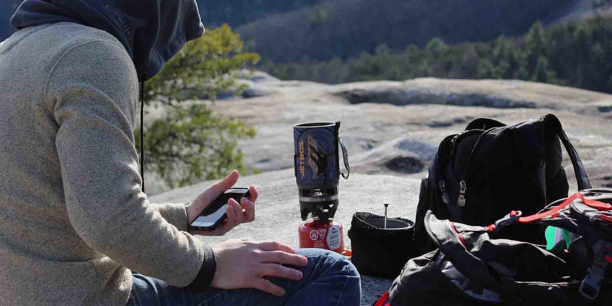 Campingkocher im Einsatz