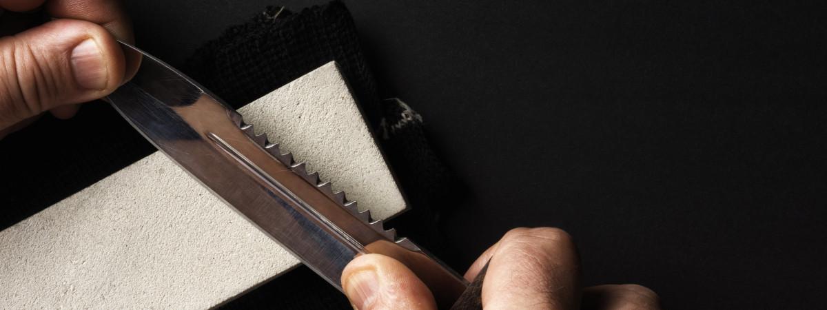 Outdoor-Messer schärfen