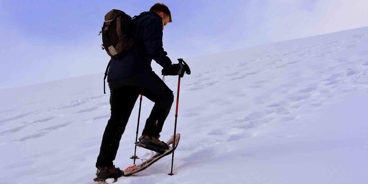 Wanderer mit Schneeschuhen