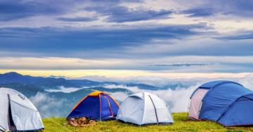 Zelt aufbauen Standort