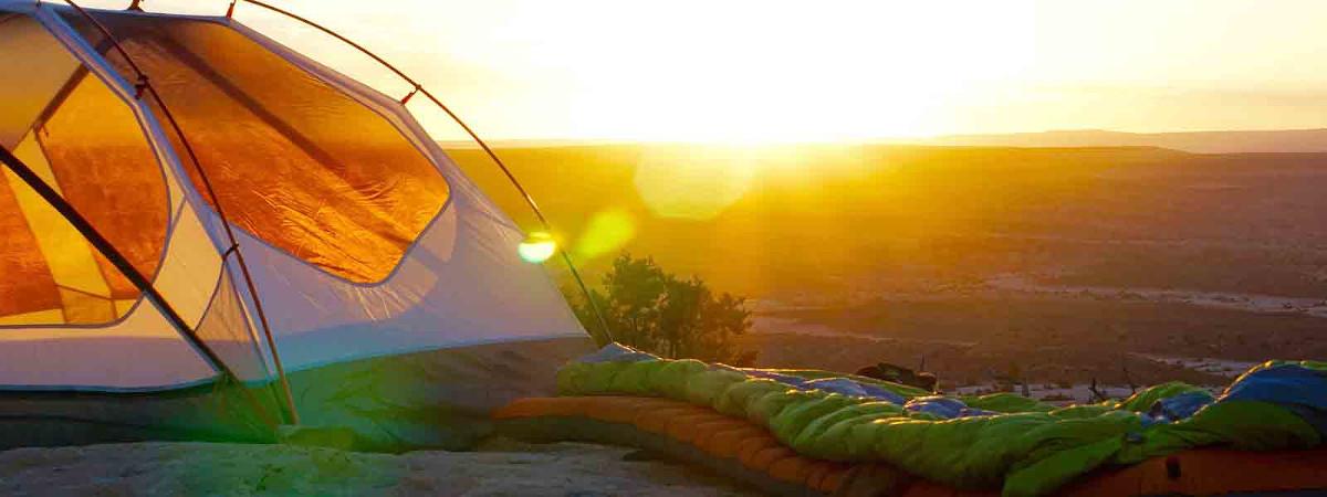 Zelten im Sommer