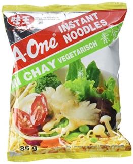 A-ONE Instantnudeln, Vegetarisch