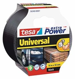 tesa Extra Power Universal Gewebeband (Wetterfestes Reparaturband, 10 m x 50 mm)